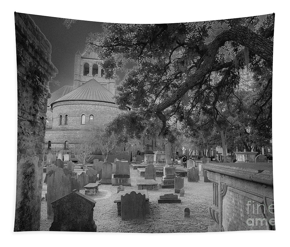 Circular Congregational Church Tapestry featuring the photograph Charleston Spooky by Dale Powell