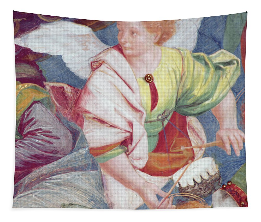 Drums Tapestry featuring the painting The Concert Of Angels by Gaudenzio Ferrari