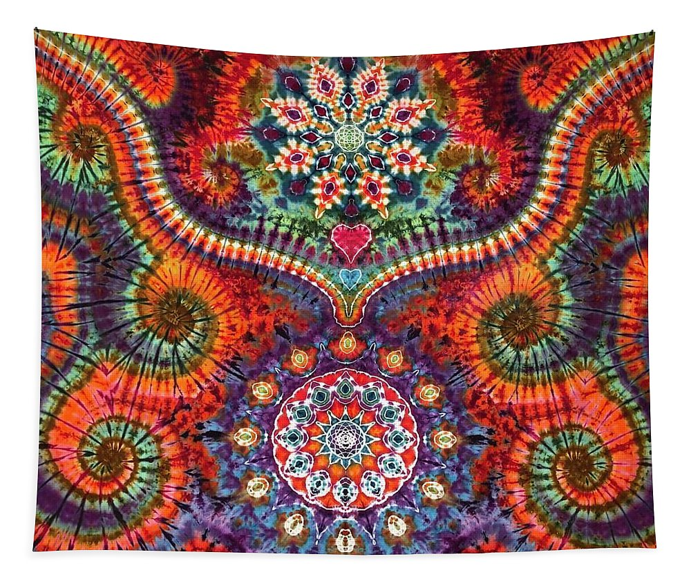 Rob Norwood Tie Dye Tapestry Tapestries. Sacred Geometry Psychedelic Art Tapestry featuring the digital art Rob Norwood by Rob Norwood