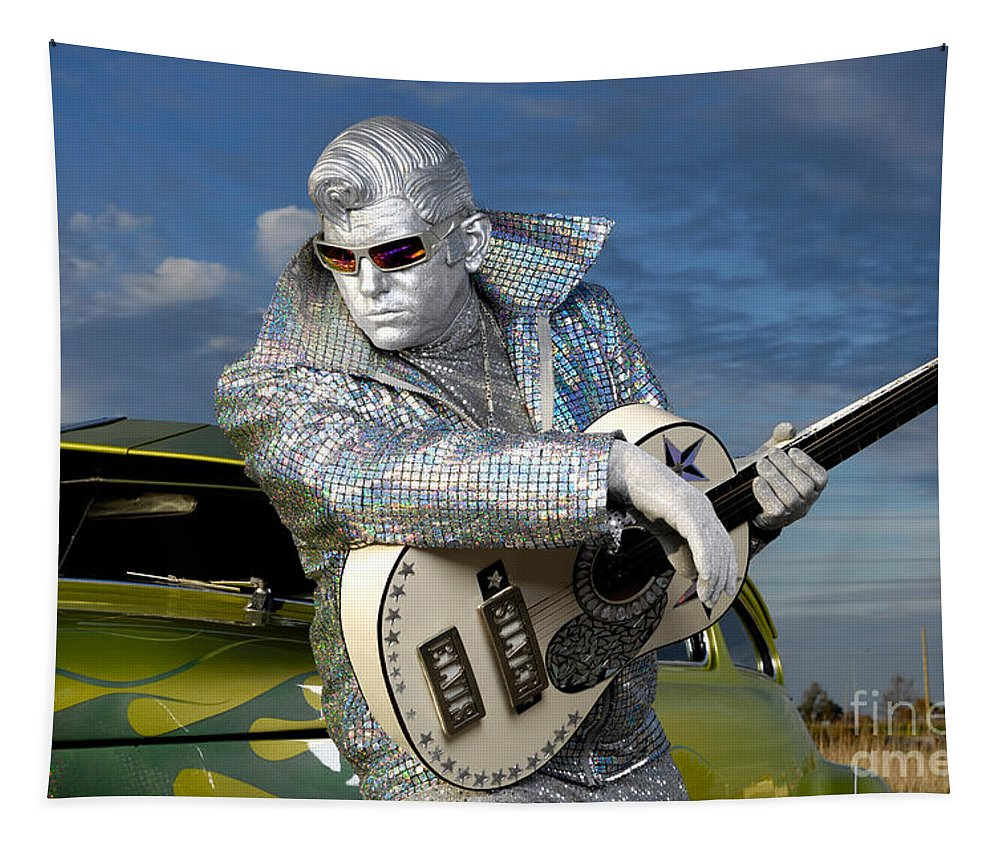 Silver Elvis Tapestry featuring the photograph Silver Elvis by Oleksiy Maksymenko