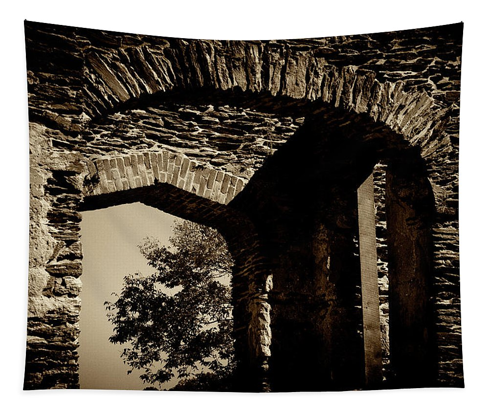 Harpers Ferry Tapestry featuring the photograph 1833 Ruins by Paul W Faust - Impressions of Light