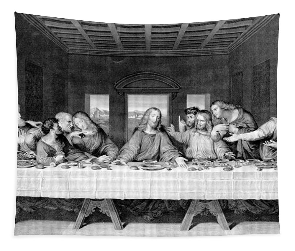 Apostles Tapestry featuring the drawing The Last Supper by Leonardo Da Vinci
