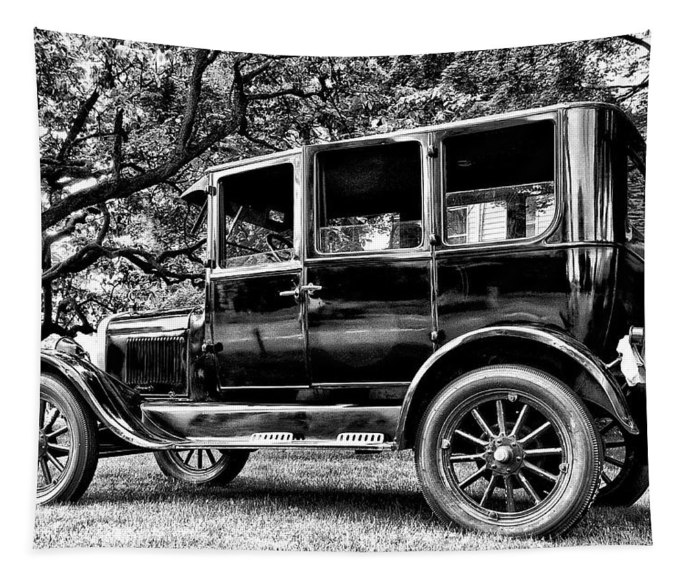 Ford Model T Tapestry featuring the photograph 1926 Ford Model T by Bill Cannon