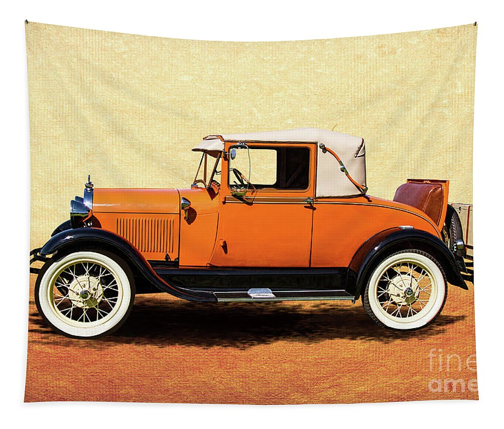1928 Tapestry featuring the photograph 1928 Classic Ford Model A Roadster by Nick Gray
