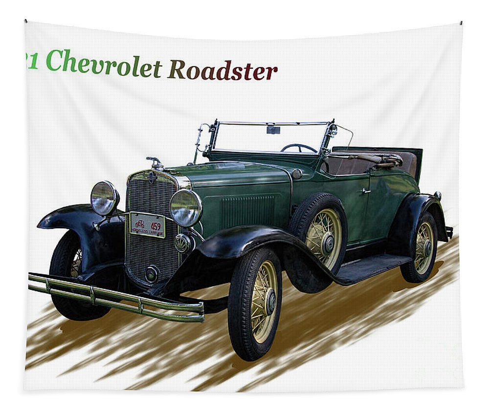 1931 Tapestry featuring the photograph 1931 Chevrolet Antique Roadster by Nick Gray