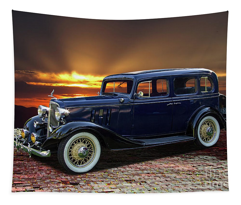 1933 Tapestry featuring the photograph 1933 Chevrolet 4 Door Eagle Sedan by Nick Gray