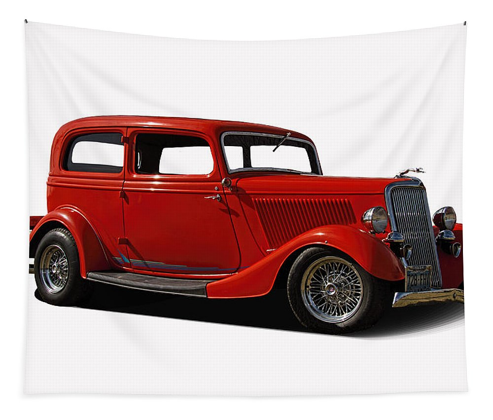 1934 Tapestry featuring the photograph 1934 Ford 2 Door Sedan by Nick Gray