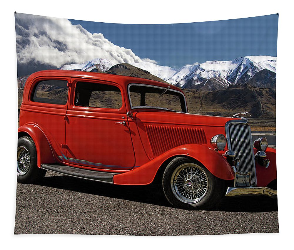 1934 Tapestry featuring the photograph 1934 Ford by Nick Gray