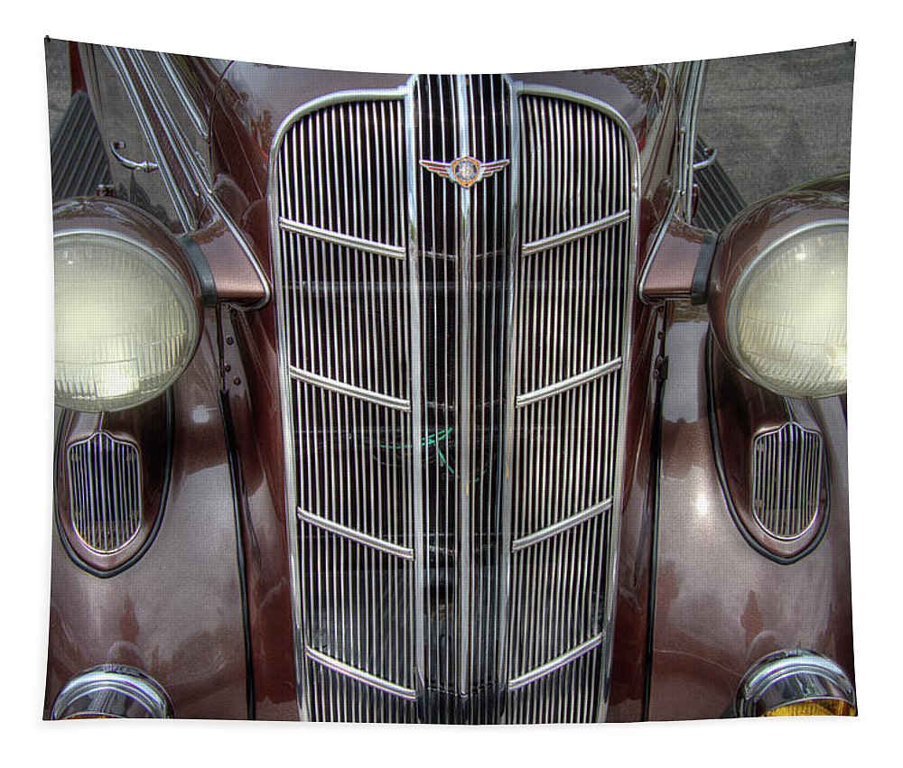 1936 Tapestry featuring the photograph 1936 Dodge Grille by Nick Gray