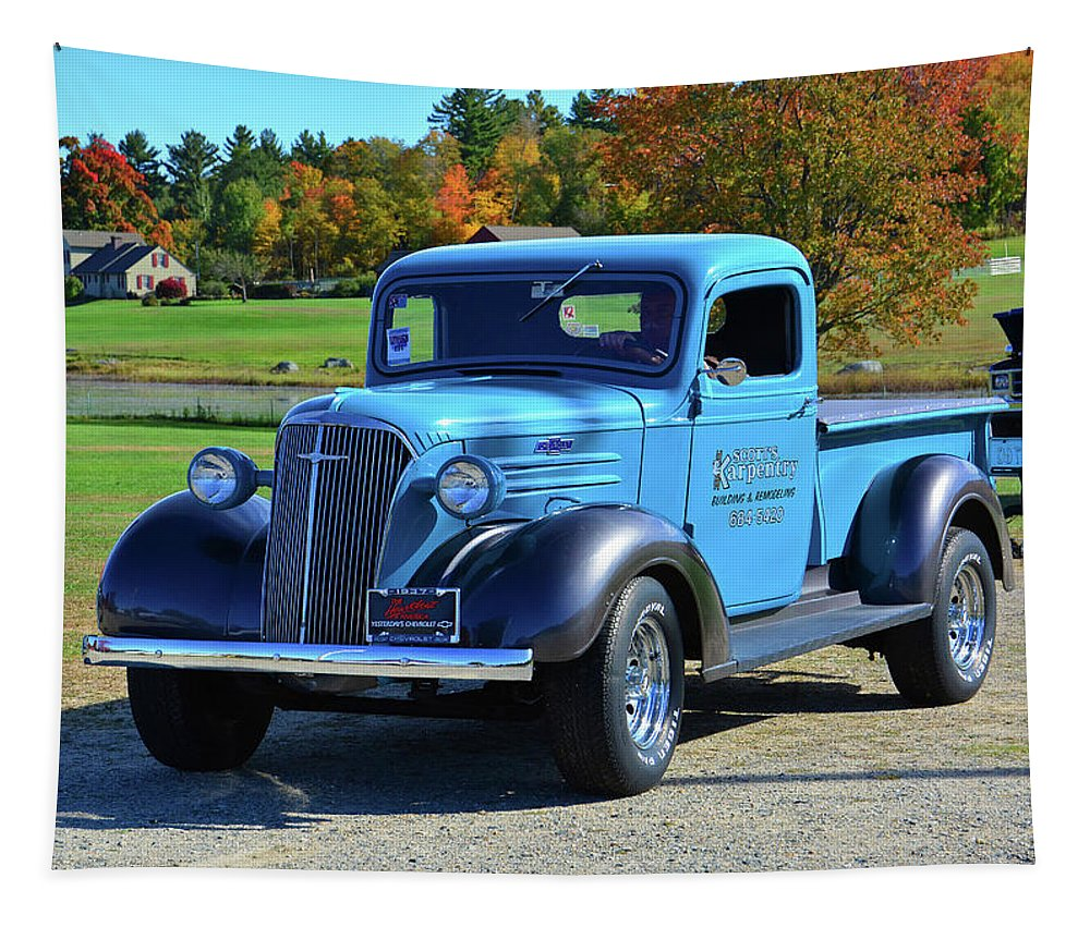 1937 Tapestry featuring the photograph 1937 Chevy Truck by Mike Martin