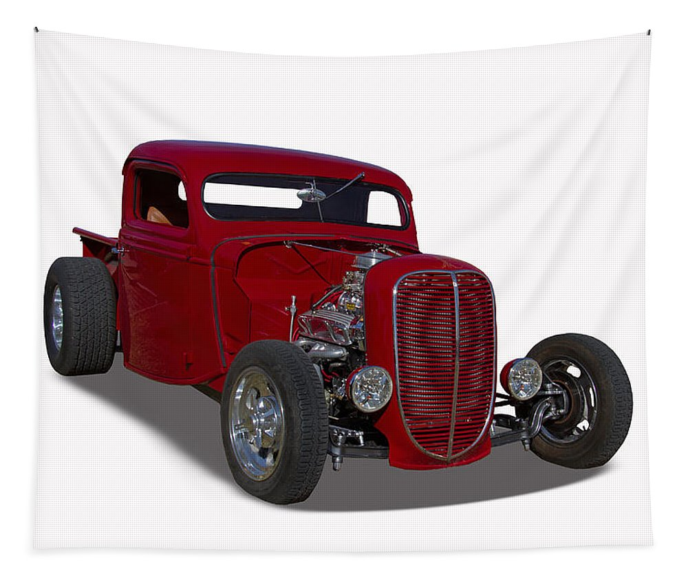 1937 Tapestry featuring the photograph 1937 Ford Truck Hot Rod by Nick Gray