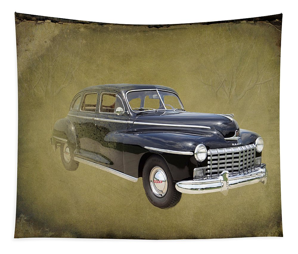 1946 Tapestry featuring the photograph 1946 Dodge D24c Sedan by David Dehner