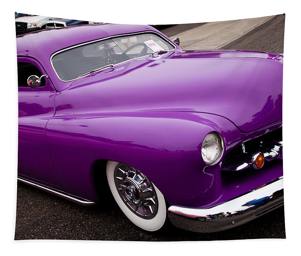 50 Tapestry featuring the photograph 1950 Purple Mercury by David Patterson