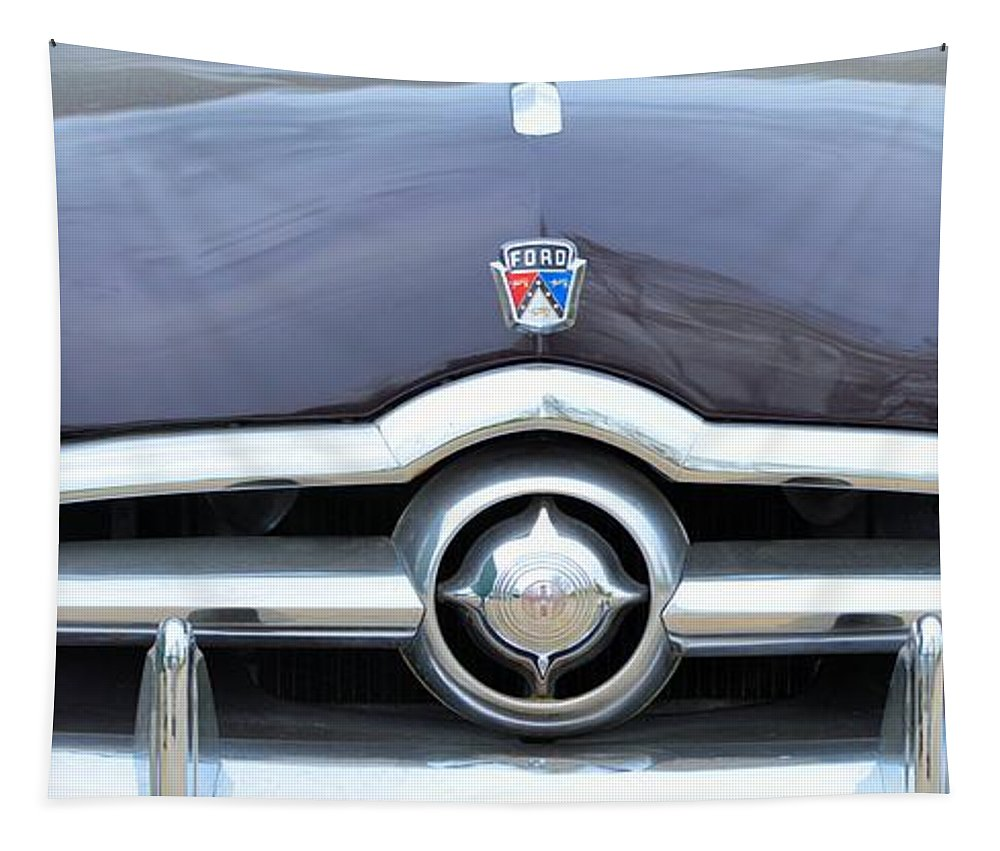 50s Tapestry featuring the photograph 1950's Ford Sedan by Bonfire Photography