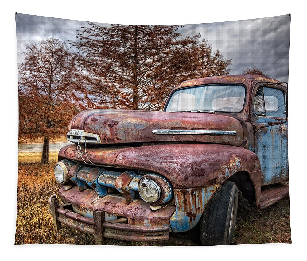 1950s Tapestry featuring the photograph 1951 Ford Truck by Debra and Dave Vanderlaan