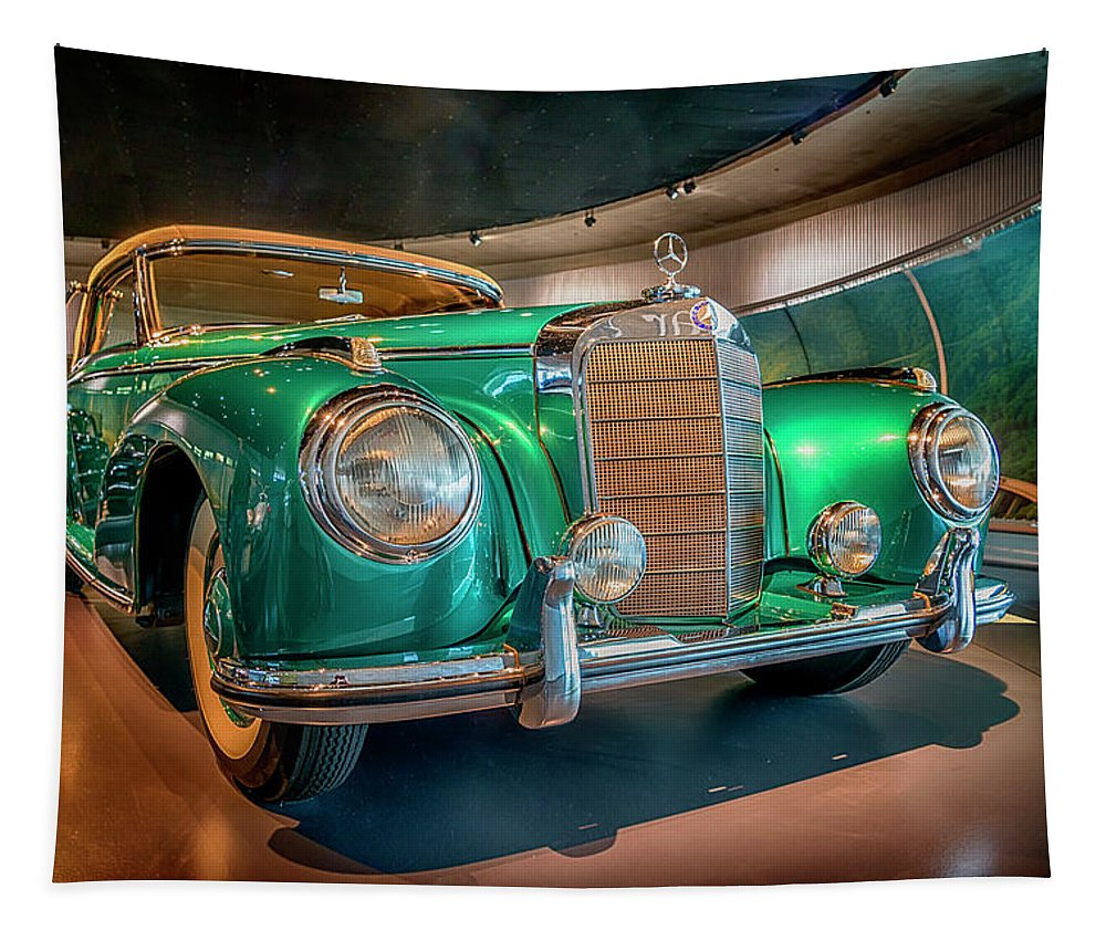 Europe Tapestry featuring the photograph 1951 Mercedes-benz 300 S Convertible A 7r2_dsc8202_05102017 by Greg Kluempers