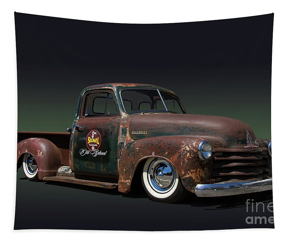 1951 Tapestry featuring the photograph 1951 Rusty Chevrolet Pickup Truck by Nick Gray