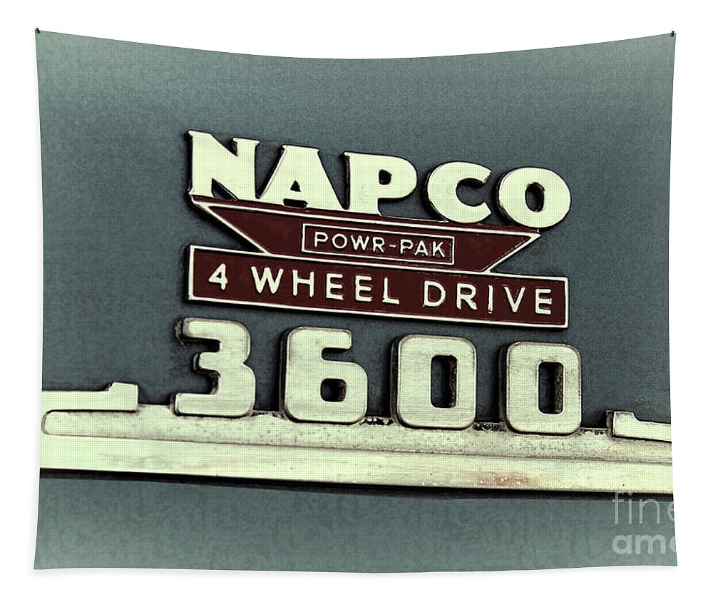 1953 Tapestry featuring the photograph 1953 Chevrolet 3600 4 X 4 Emblem by Nick Gray