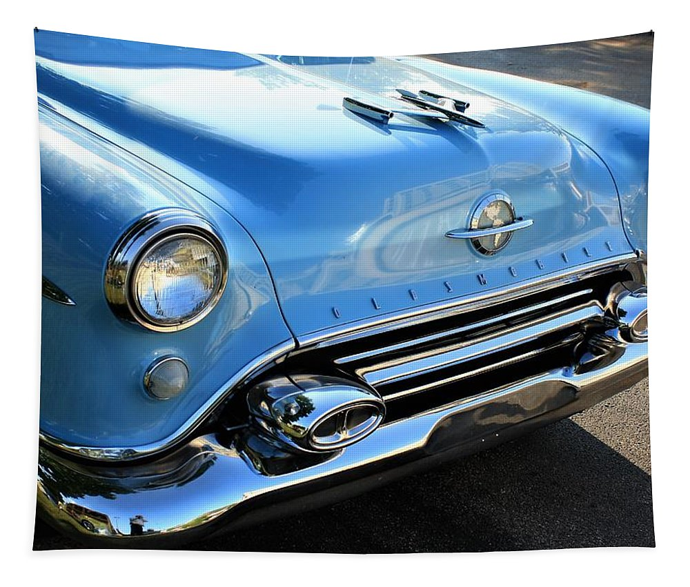 Americana Tapestry featuring the photograph 1954 Olds - Oldsmobile 88 Front View by WHBPhotography Wallace Breedlove
