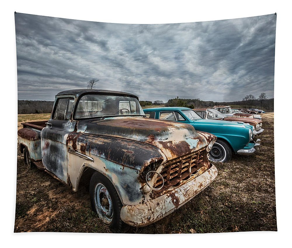 1950s Tapestry featuring the photograph 1956 Chevy by Debra and Dave Vanderlaan