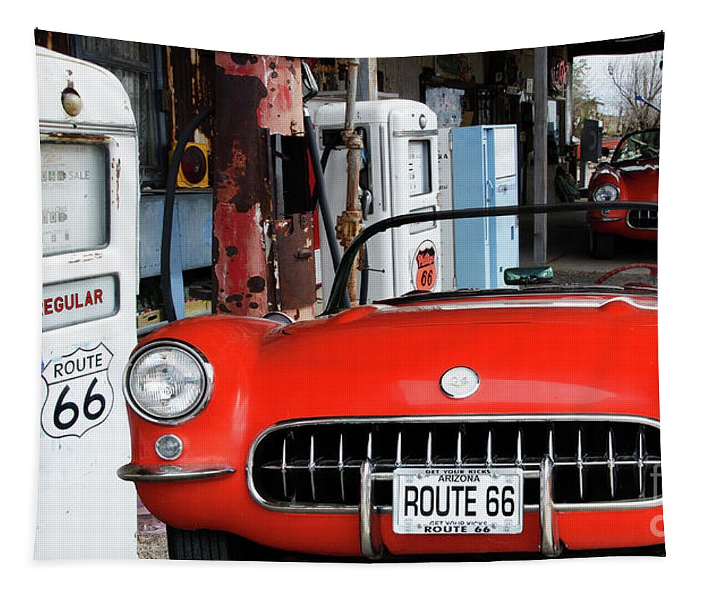 Hackberry Tapestry featuring the photograph 1957 Corvette Hackberry Arizona 2 by Bob Christopher