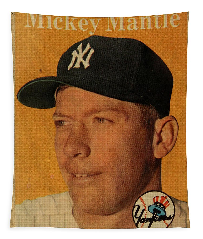 Mickey Mantle Wall Tapestries Fine Art America