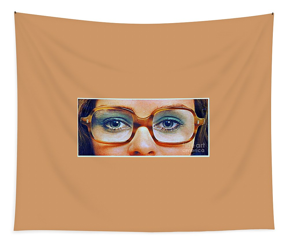 1960 70 Stylish Female Glasses Advertisement 3 Tapestry featuring the photograph 1960 70 Stylish Female Glasses Advertisement 3 by R Muirhead Art