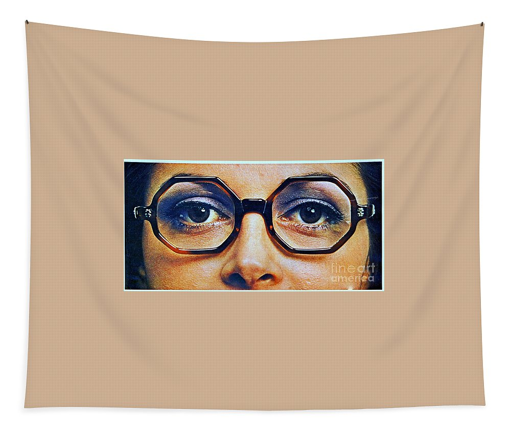 1960 70 Stylish Female Glasses Advertisement 4 Tapestry featuring the photograph 1960 70 Stylish Female Glasses Advertisement 4 by R Muirhead Art