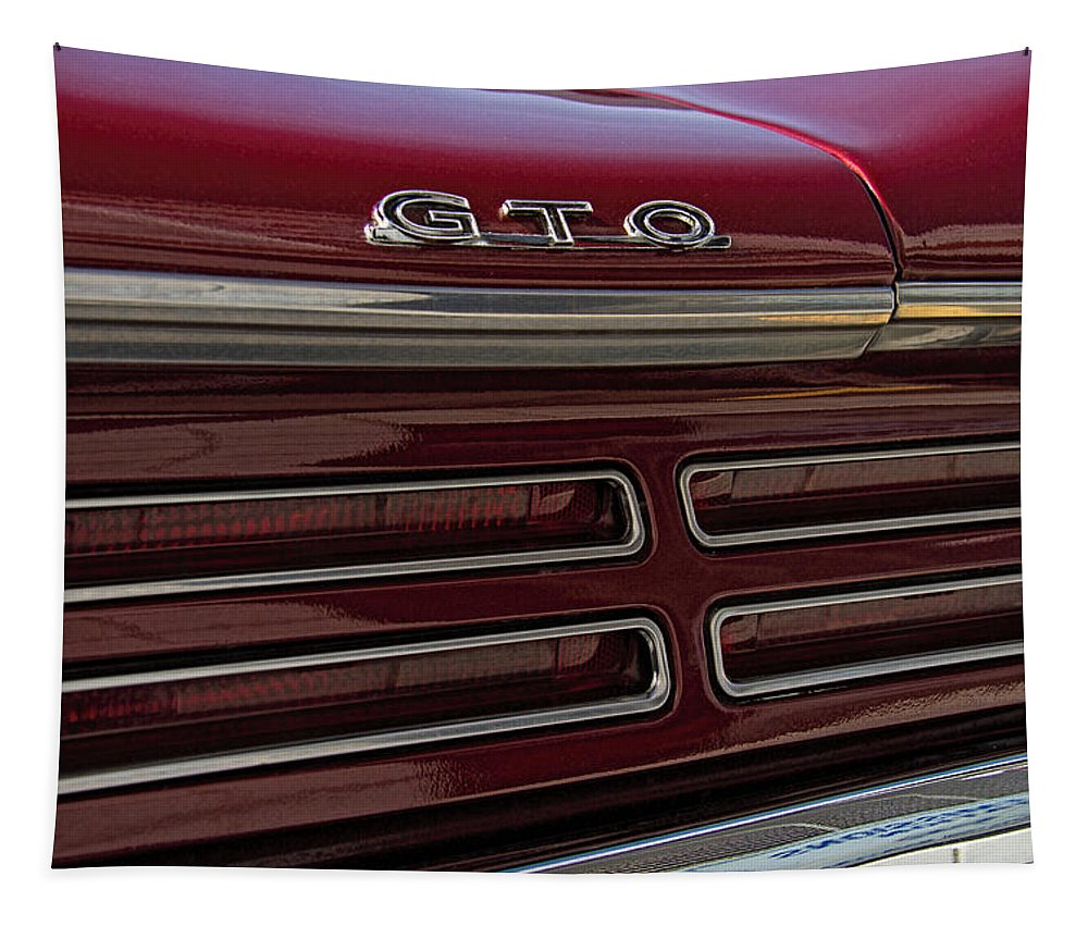 1967 Tapestry featuring the photograph 1967 Pontiac Gto Logo by Nick Gray