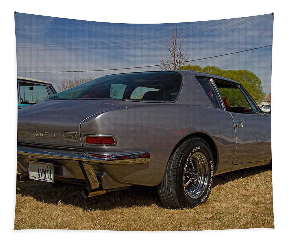 1974 Tapestry featuring the photograph 1974 Studebaker Avanti 11 by Nick Gray