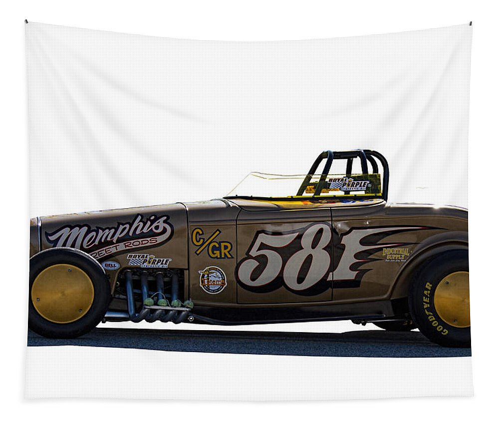 1932 Tapestry featuring the photograph 581 Bonneville Race Car by Nick Gray