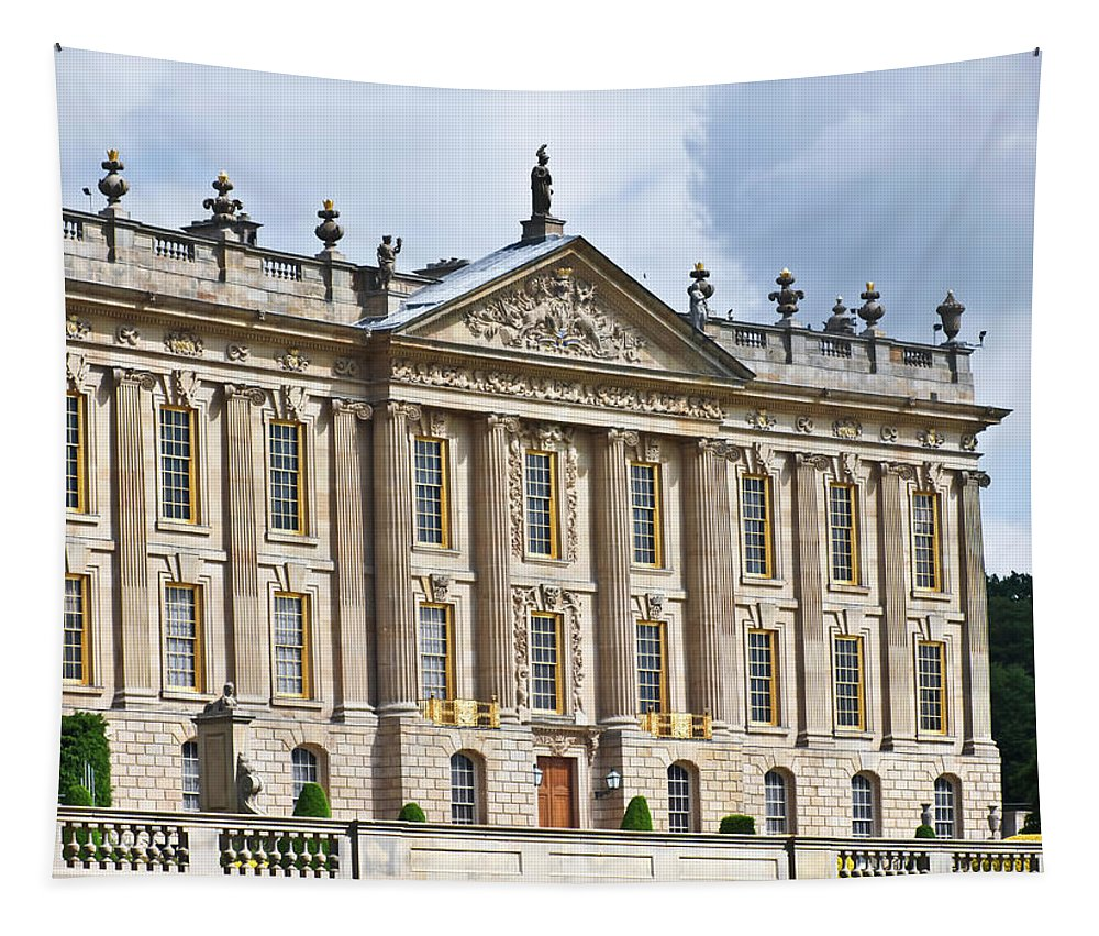 Great Tapestry featuring the photograph A View Of Chatsworth House, Great Britain by Derrick Neill
