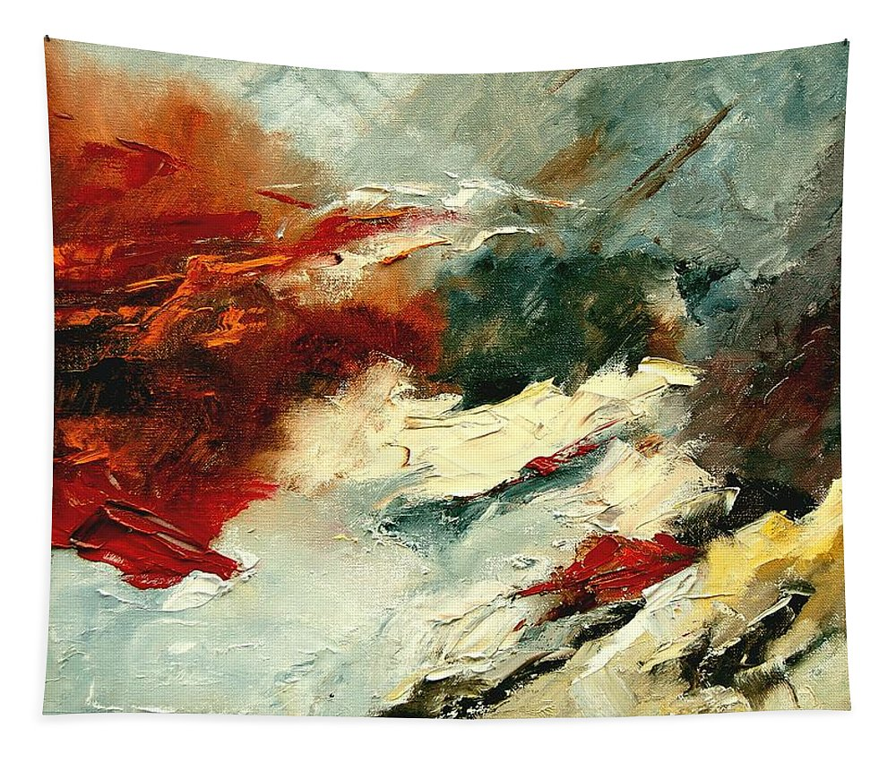Abstract Tapestry featuring the painting Abstract 9 by Pol Ledent