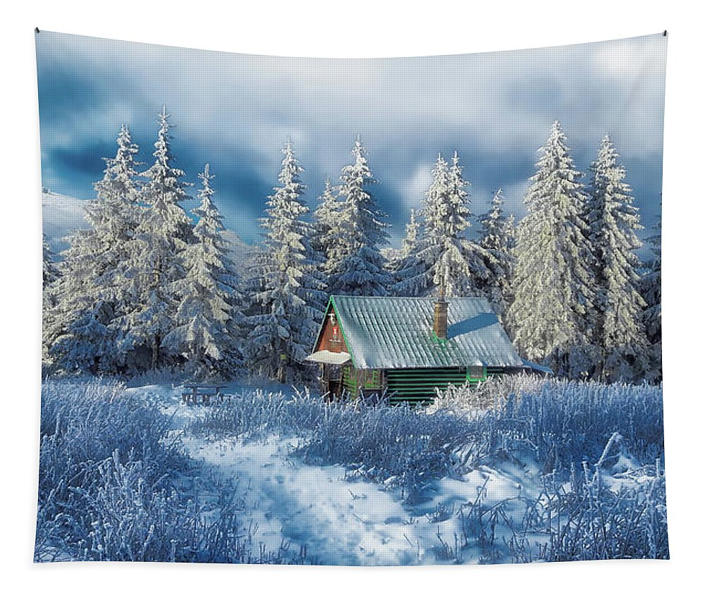 Alpine Tapestry featuring the photograph Alpine Hideaway by Janka Simka