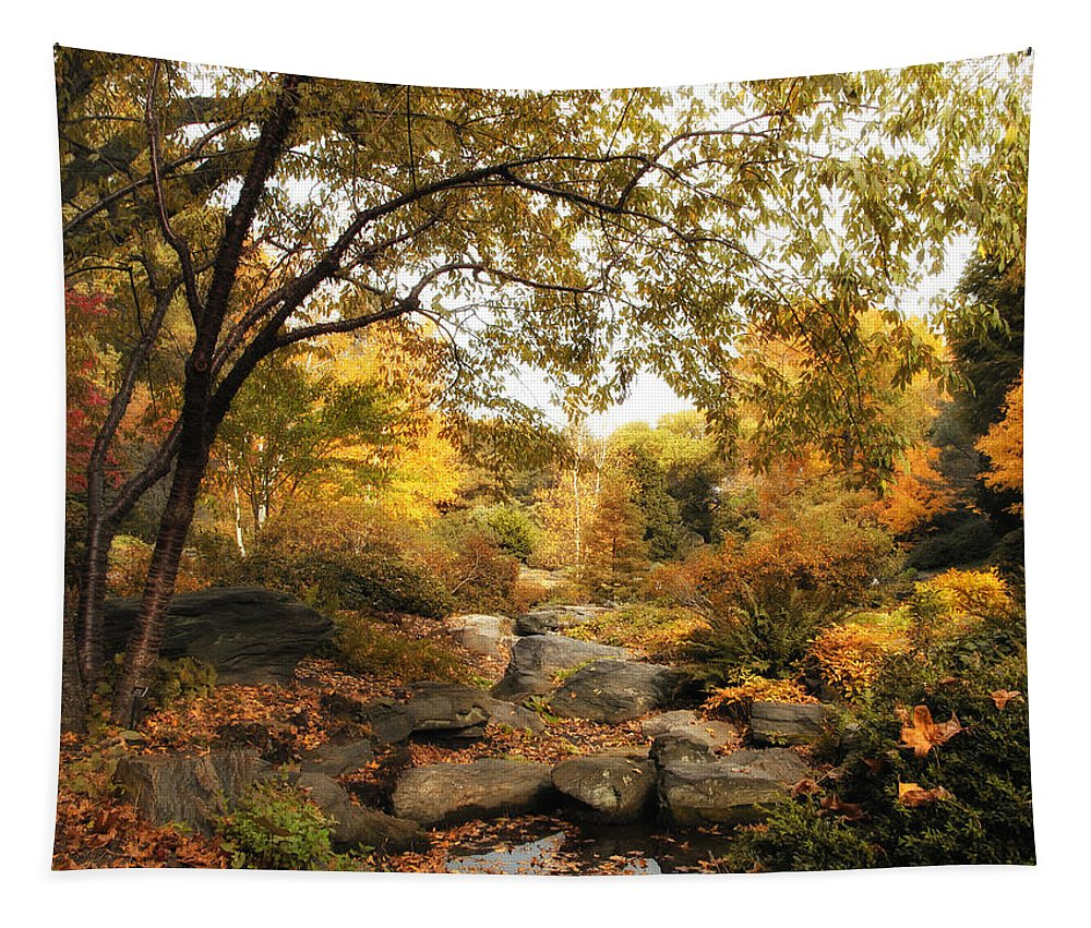 Nature Tapestry featuring the photograph Autumn Garden by Jessica Jenney
