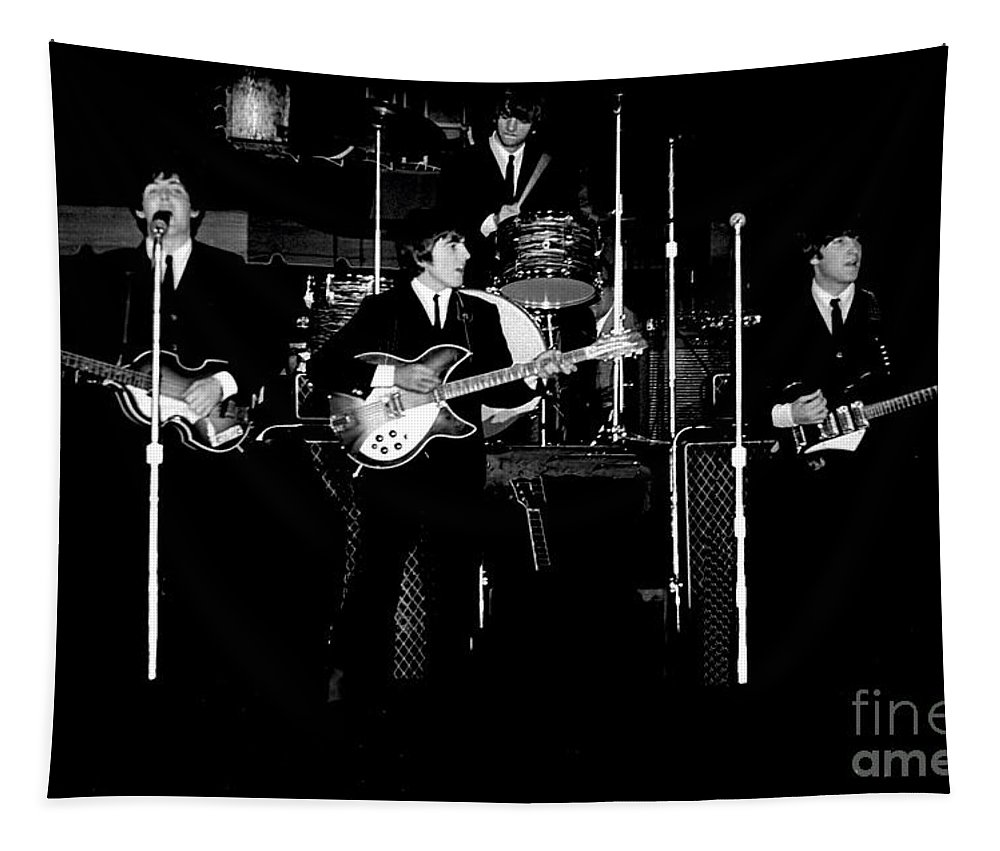 Beatles Tapestry featuring the photograph Beatles In Concert 1964 by Larry Mulvehill
