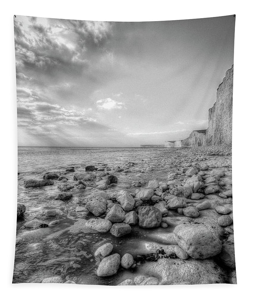 Seven Sisters Tapestry featuring the photograph Birling Gap Seven Sisters by David Pyatt