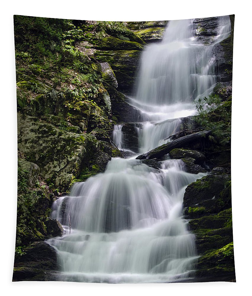 Buttermilk Falls Tapestry featuring the photograph Buttermilk Falls by Eleanor Bortnick