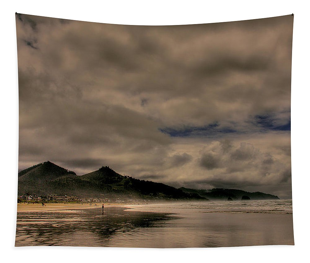 Seascape Tapestry featuring the photograph Cannon Beach by David Patterson