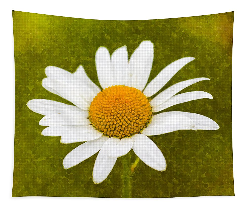 Camomile Tapestry featuring the photograph Chamomile Watercolor by David Pyatt