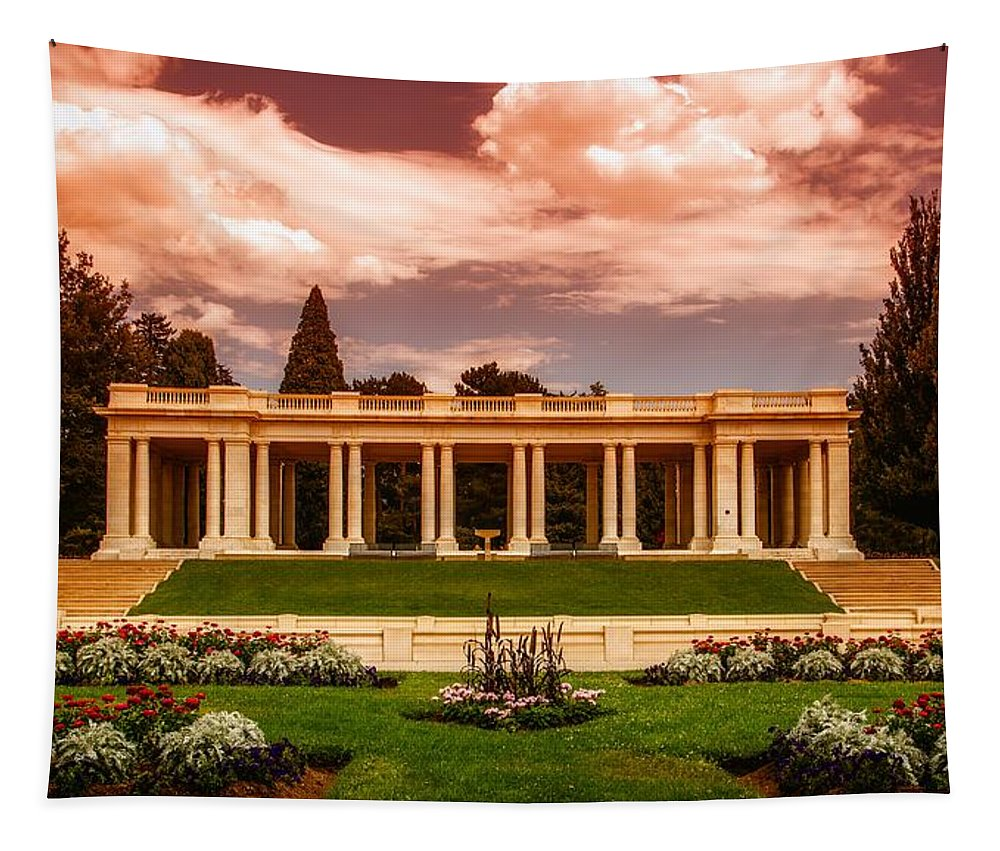 Denver Tapestry featuring the photograph Cheesman Park Denver by Mountain Dreams