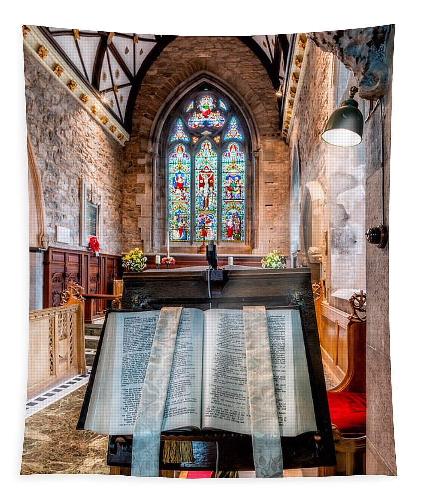 Church Interior Tapestry featuring the photograph Church Interior by Adrian Evans