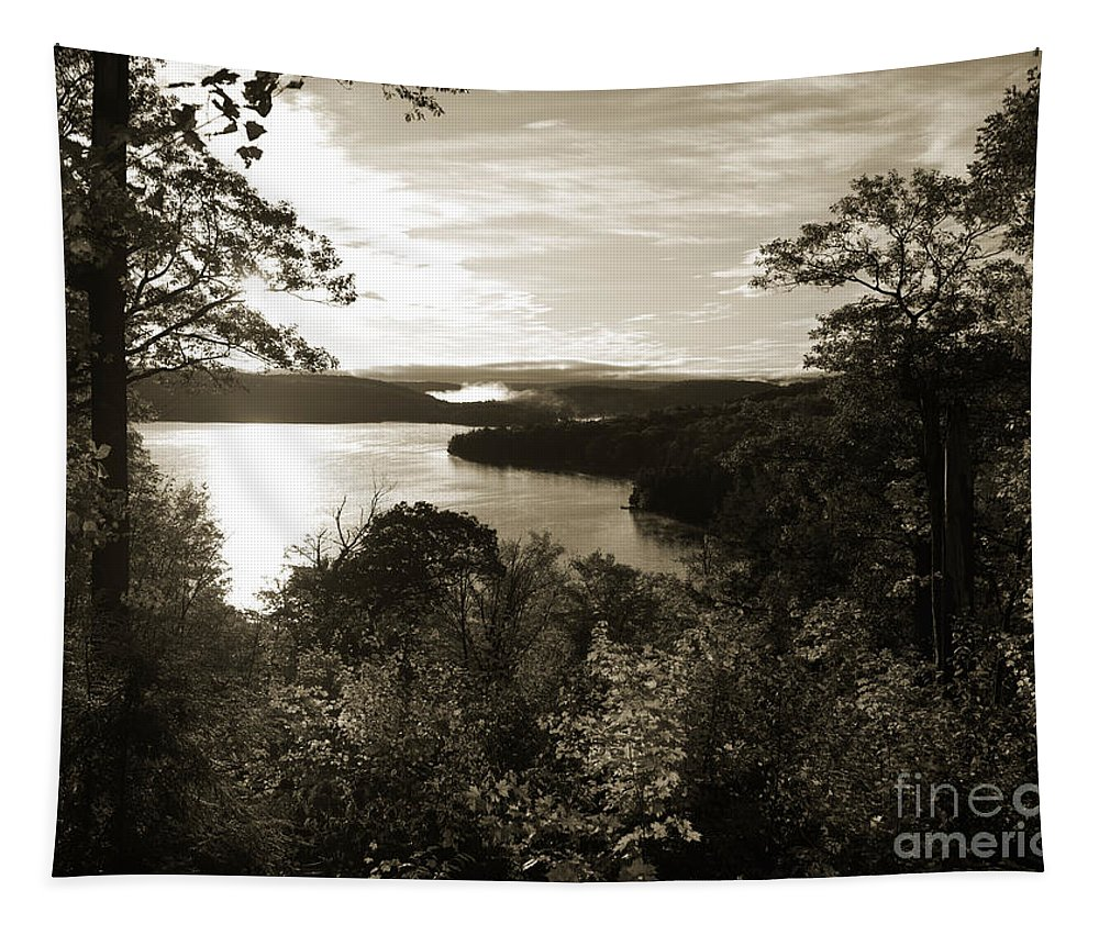 Autumn Tapestry featuring the photograph Dawn At Algonquin Park Canada by Oleksiy Maksymenko