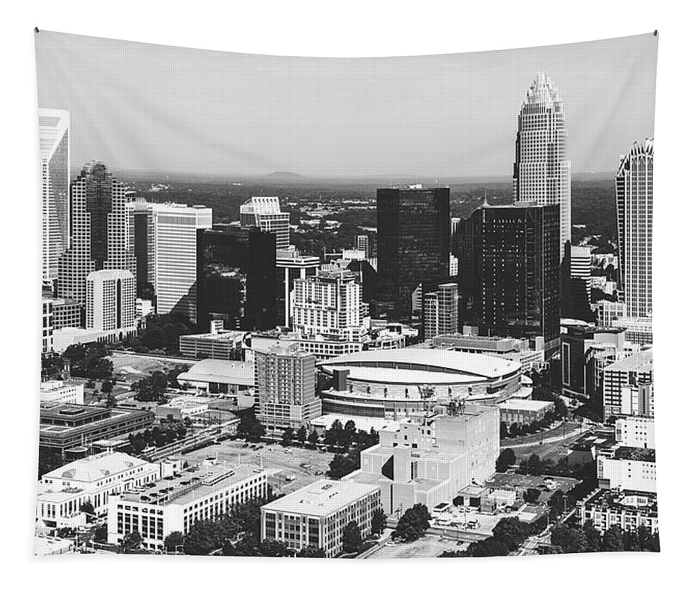Charlotte Tapestry featuring the photograph Downtown Charlotte by Library Of Congress