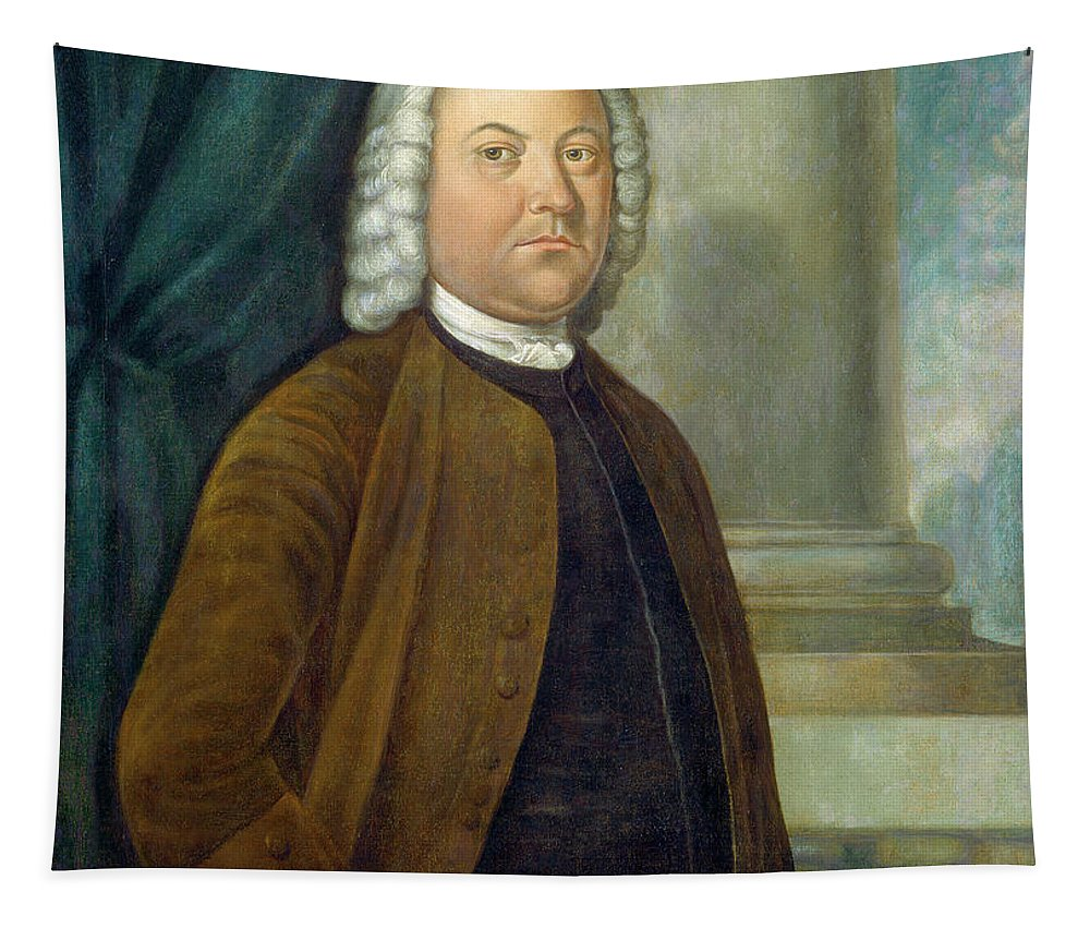 Benjamin West Tapestry featuring the painting Dr. Samuel Boude by Benjamin West