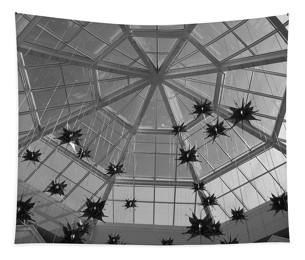 Black And White Tapestry featuring the photograph Hanging Butterflies by Rob Hans