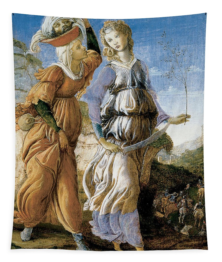 Sandro Botticelli Tapestry featuring the painting Judith With The Head Of Holofernes by Sandro Botticelli