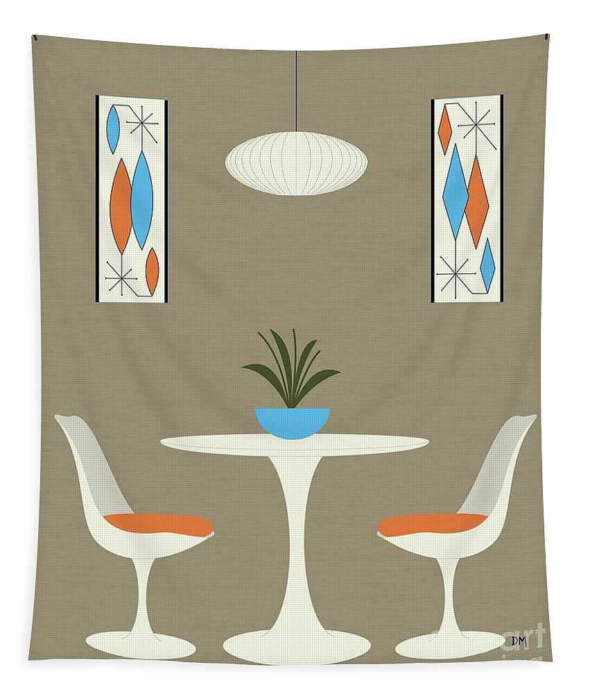 Tapestry featuring the digital art Knoll Table by Donna Mibus
