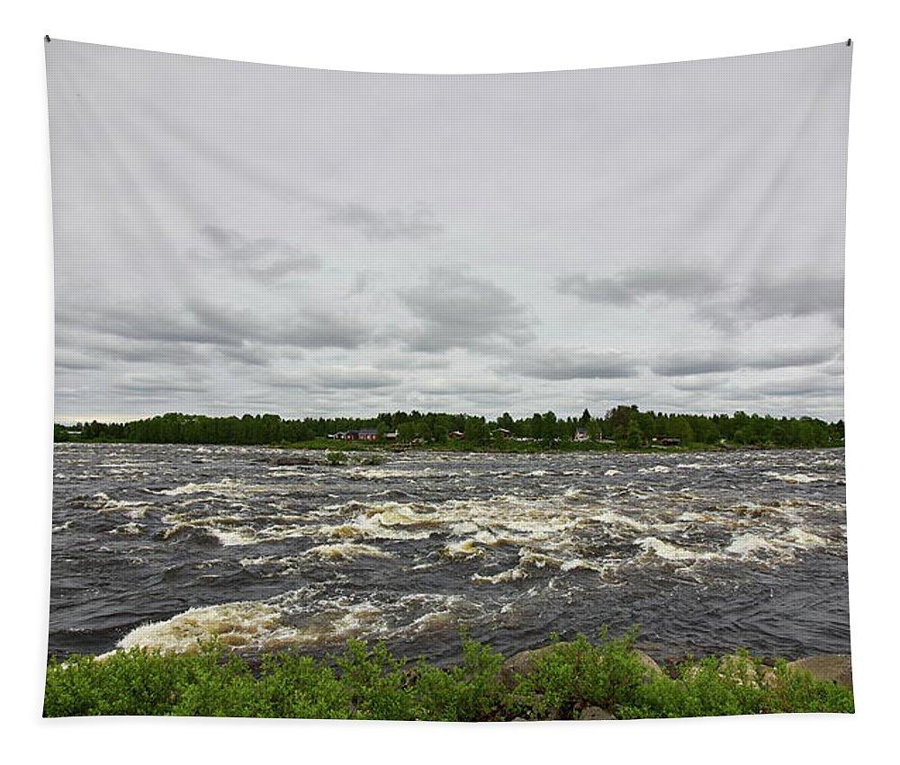 Finland Tapestry featuring the photograph Kukkolankoski by Jouko Lehto
