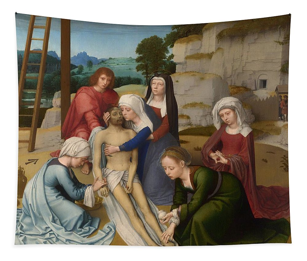 Painting Tapestry featuring the painting Lamentation by Mountain Dreams